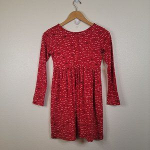 Hanna Andersson Bow Tie Long Sleeve Button Dress Girls 10